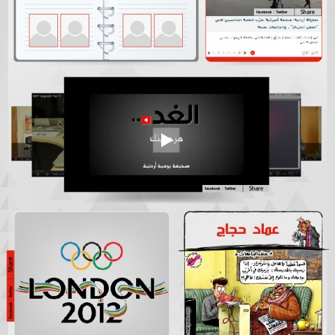 Al-Ghad Newspaper Branded Page